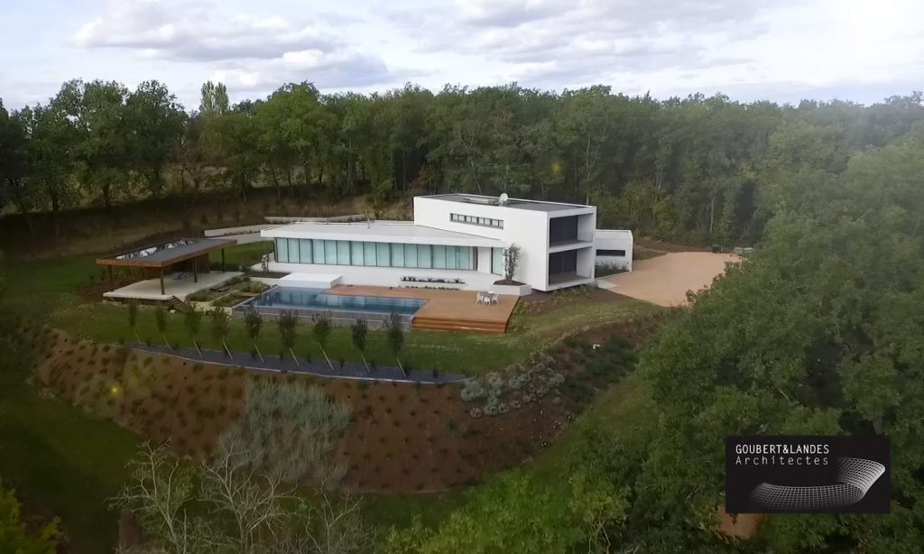 Vidéo de présentation de réalisation d'une villa