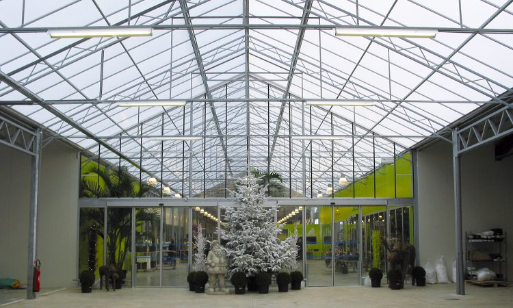 Serres horticoles à Saint-Jory